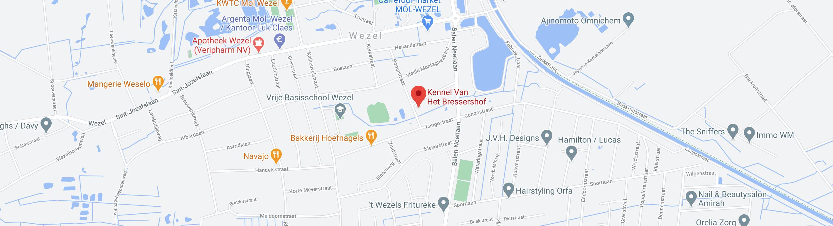 Locatie kennel van het bressershof